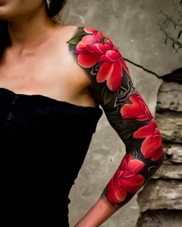 tatuajes brazo mujer japoneses