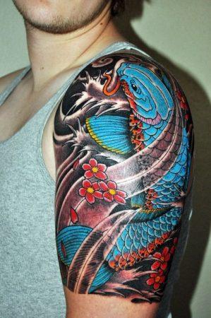 tatuajes de carpas koi