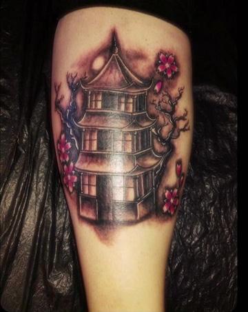 tatuajes de casas chinas sencillas