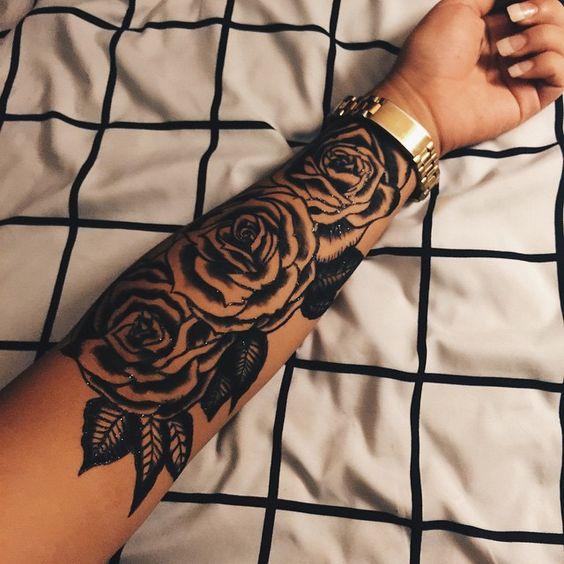 foto de tatuaje con rosa