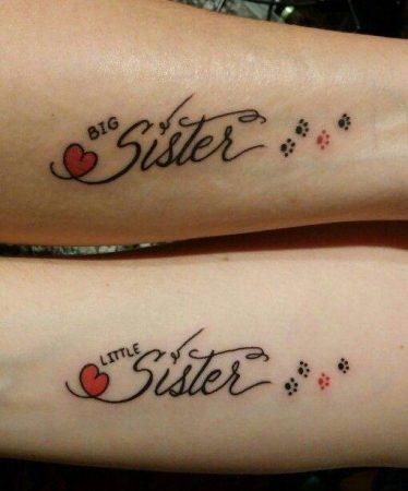 tatuajes hermanas delicados