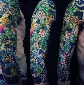 tatuajes japoneses antebrazo hombres