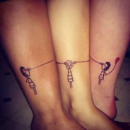 tatuajes para hermanas dos o mas munecas