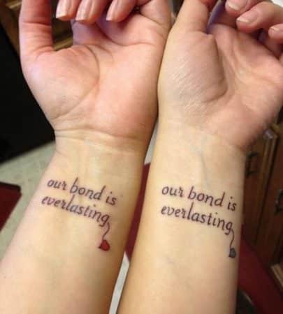 tatuajes para hermanas frases igual 600x666
