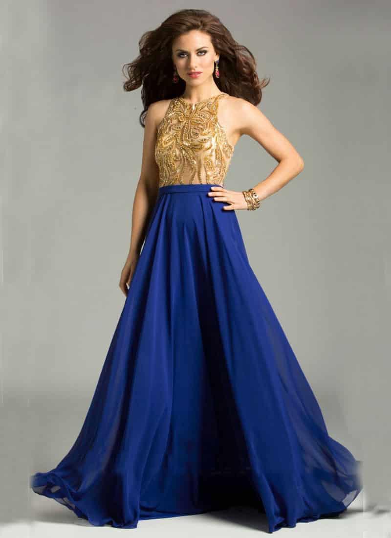 Vestidos para fiesta azul francia