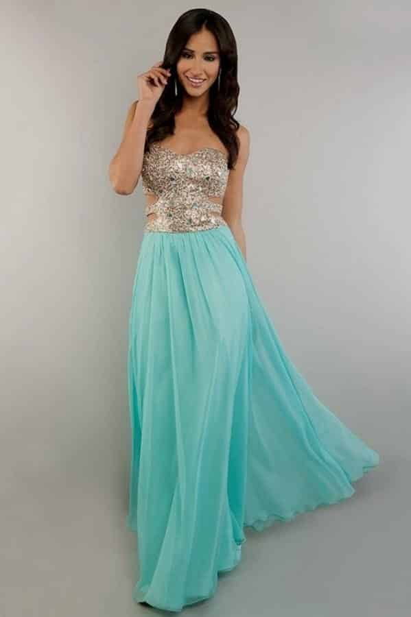 Vestidos largos elegantes para la noche