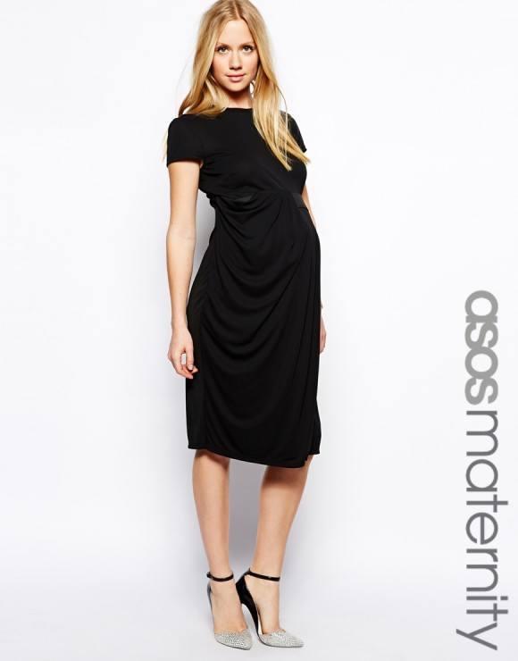 vestidos de fiesta dia y noche para mujeres embarazadas 2014 vestido noche negro asos e1396960462493