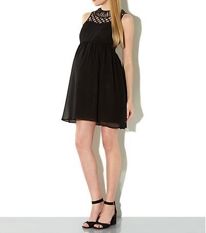 vestidos de fiesta para embarazadas 2014 modelo negro new look