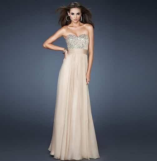 Vestidos largos sencillos para ir a una boda
