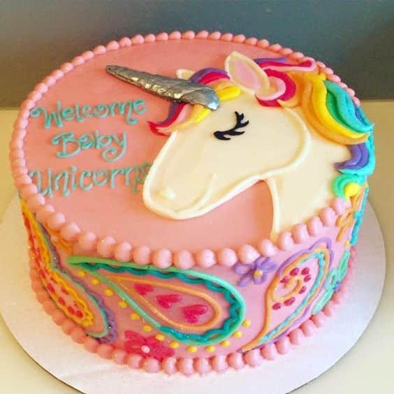 los mejores diseños en pasteles de unicornios 12