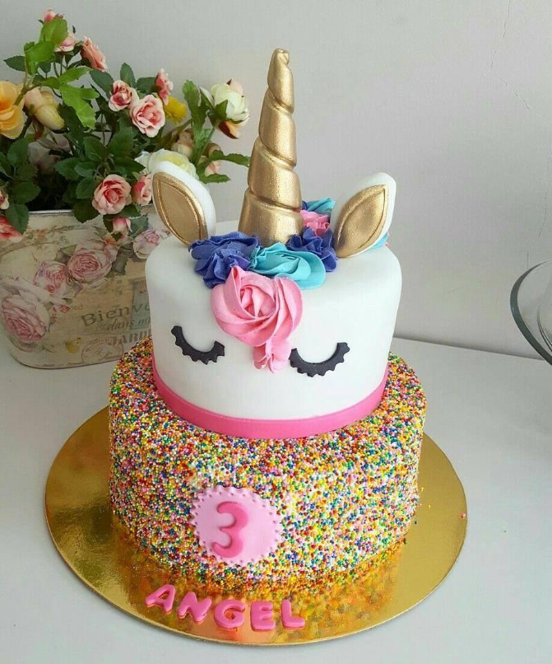 pastel unicornio cumple anos
