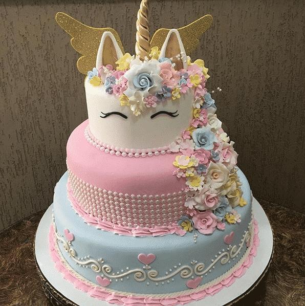 torta unicornio cumpleanos